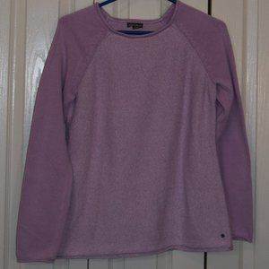 Eddie Bauer Lilac Cotton Blend Pull On Sweater M
